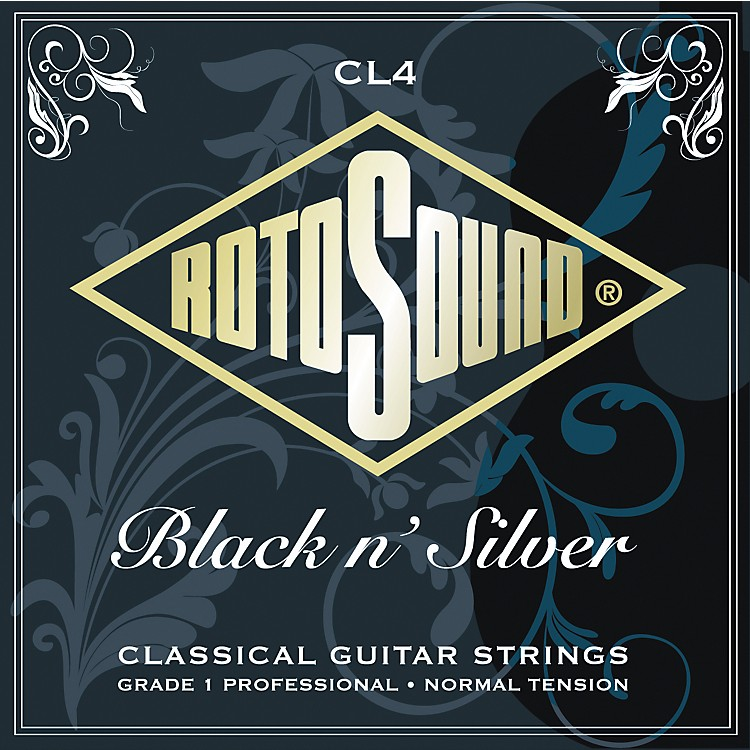 RotosoundBlack n Silver Tie-On Normal Tension Classical Guitar Strings
