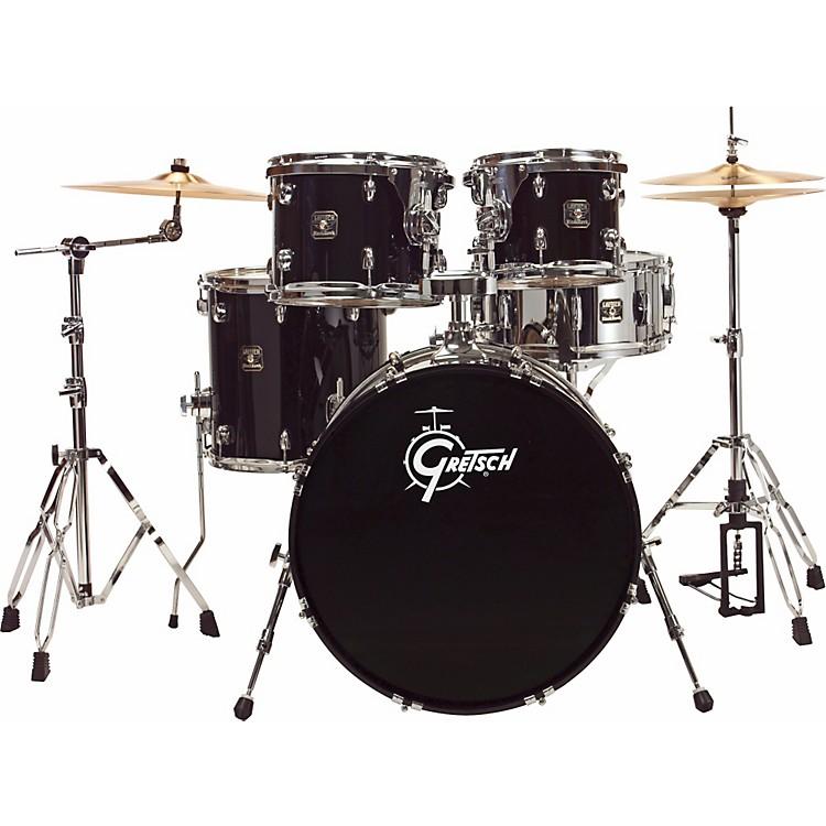 Gretsch DrumsBlackhawk 5-Piece Euro Drum Set with Sabian CymbalsLiquid Black
