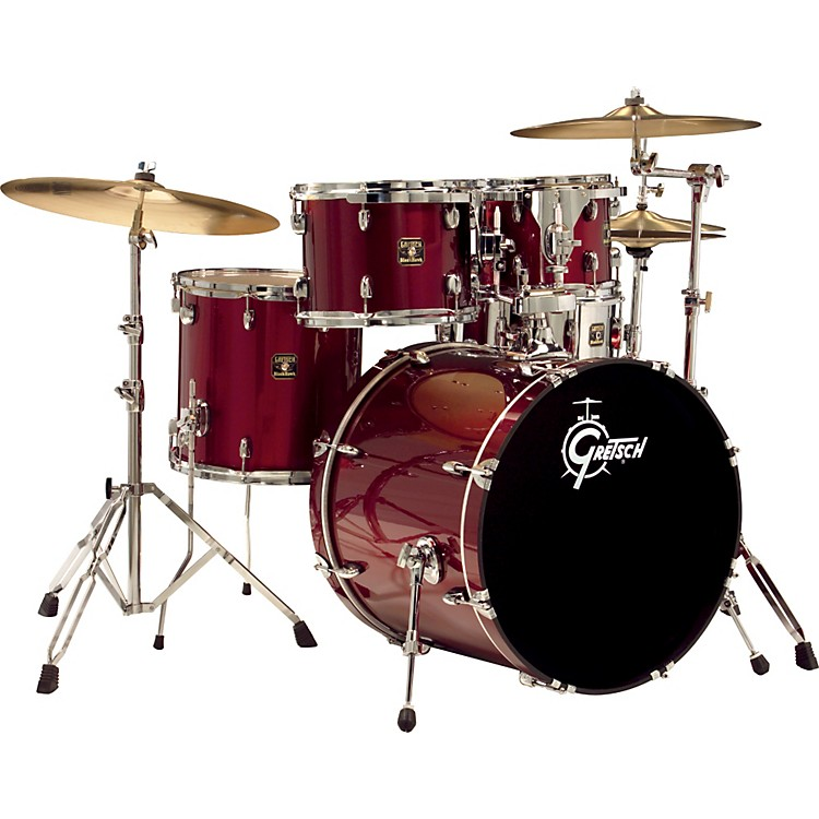 Gretsch DrumsBlackhawk 5-Piece Fusion Drum Set with Sabian CymbalsWine Red