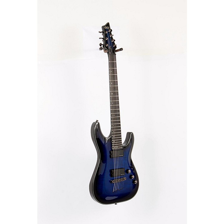 Schecter Guitar Research Blackjack SLS C-7 Active Electric Guitar See-Thru Blue Burst 888365168685