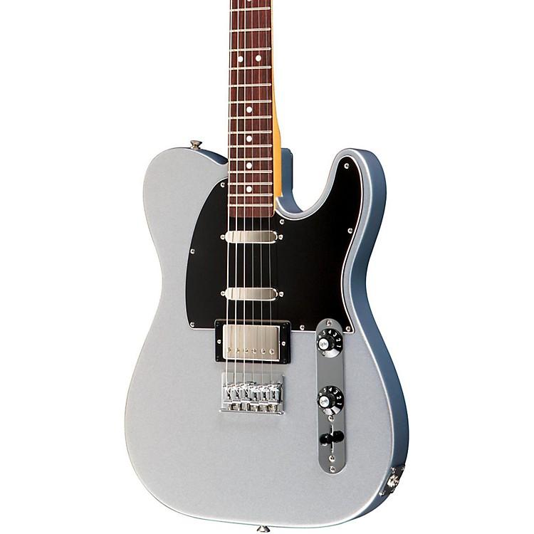 FenderBlacktop Baritone Telecaster Electric GuitarGhost SilverRosewood Fingerboard