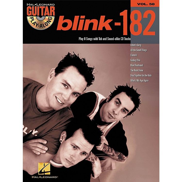 Hal Leonard Blink-182 Guitar Play-Along Book with CD
