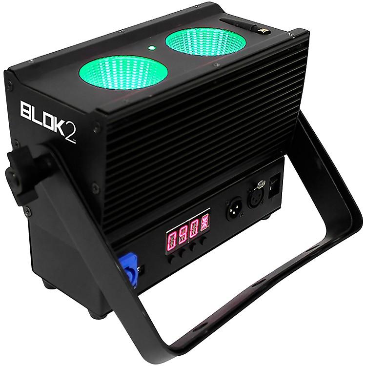 BlizzardBlok 2 IP Outdoor Rated 2x25 Watt RGBAW COB IP65 LED Wash Light