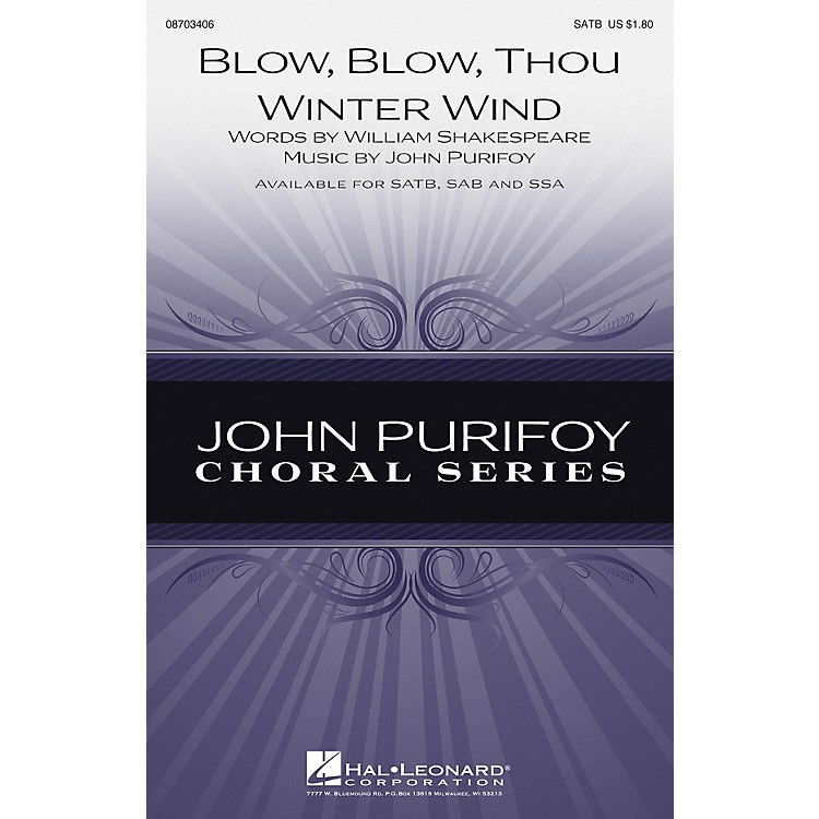 Hal Leonard Blow, Blow, Thou Winter Wind SSA Composed by John Purifoy