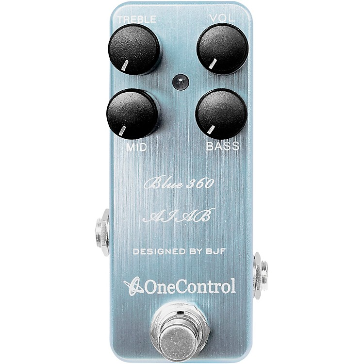 One ControlBlue 360 Bass Preamp PedalIce Blue Metalic