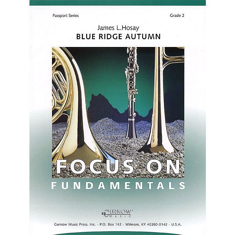 Curnow Music Blue Ridge Autumn (Grade 2 - Score Only) Concert Band Level 2 Composed by James L Hosay