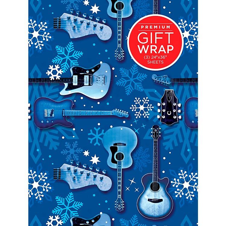 Hal LeonardBlue Snowflake Guitar Premium Gift Wrapping Paper