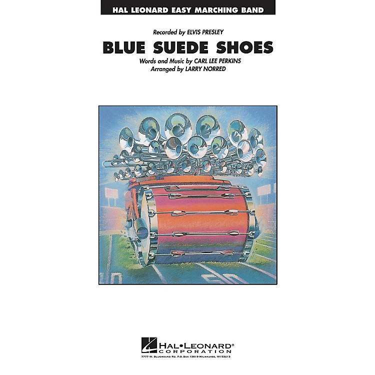 Hal Leonard Blue Suede Shoes Marching Band Level 2-3 Arranged by Larry Norred