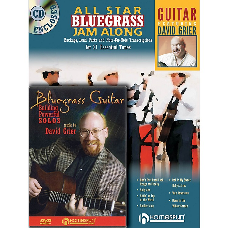 Homespun Bluegrass Guitar Bundle Pack Homespun Tapes Series Performed by David Grier