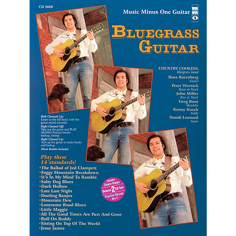 Music Minus One Bluegrass Guitar (Deluxe 2-CD Set) Music Minus One Series Softcover with CD