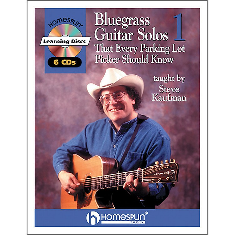 HomespunBluegrass Guitar Solos That Every Parking Lot Picker Should Know (Series 1) Book/6 CD's