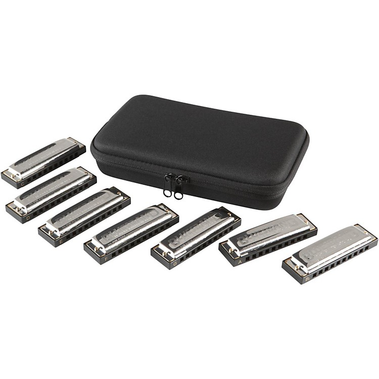 Hohner Blues Band 7-Piece Harmonica Set 1501