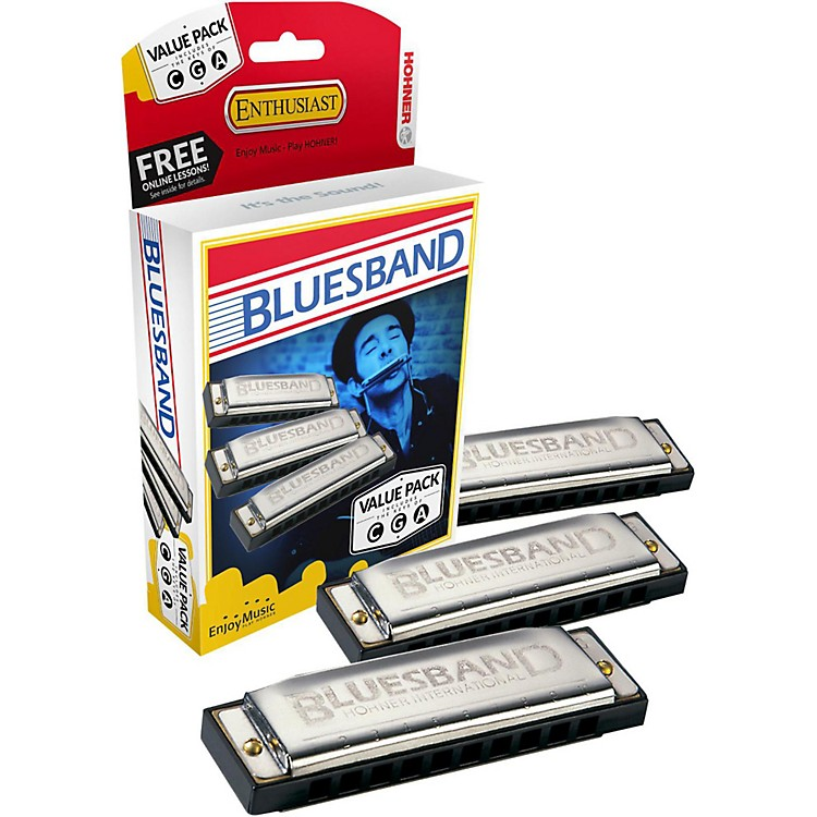 Hohner Blues Band Harmonica Value Pack