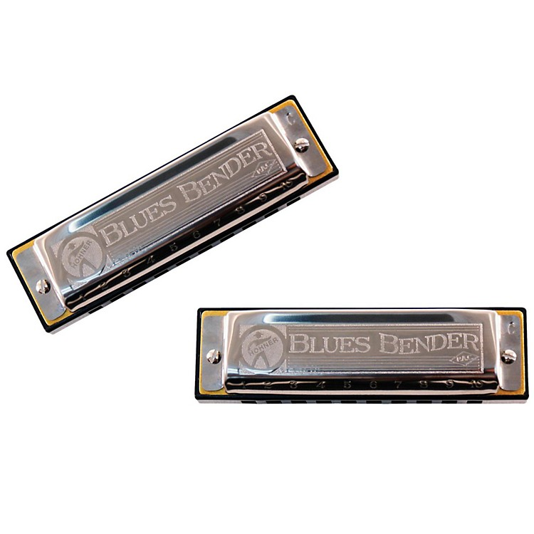 Hohner Blues Bender P.A.C. Harmonica (2 Pack) C