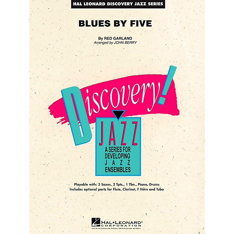 Hal Leonard Blues By Five Jazz Band Level 2