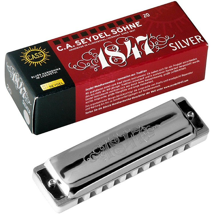 SEYDEL Blues Silver 1847 Harmonica Low E