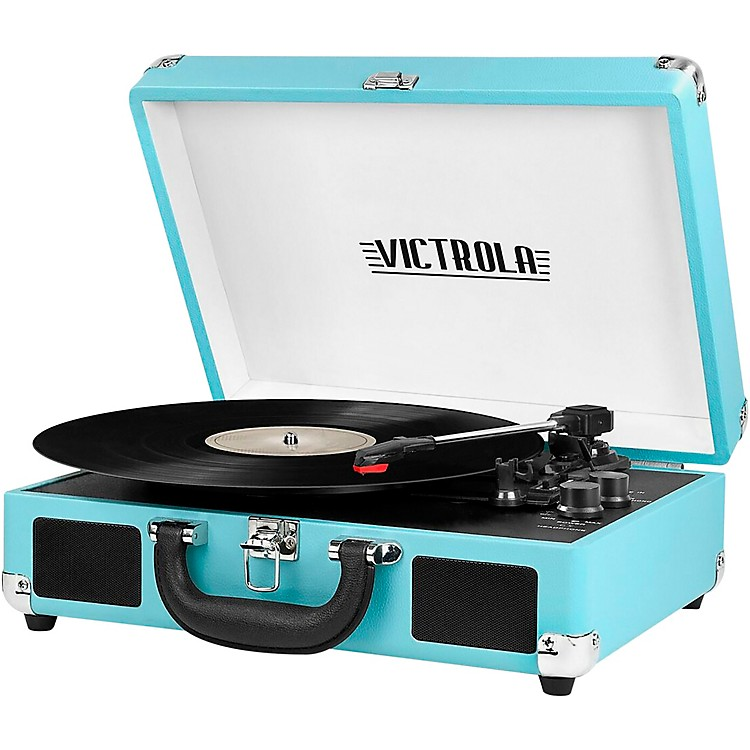 VictrolaBluetooth Portable Suitcase Record PlayerRed (UK Flag)