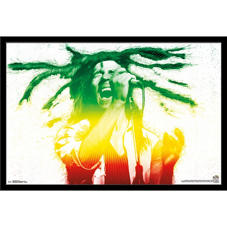 Trends InternationalBob Marley - Electric PosterFramedBlack
