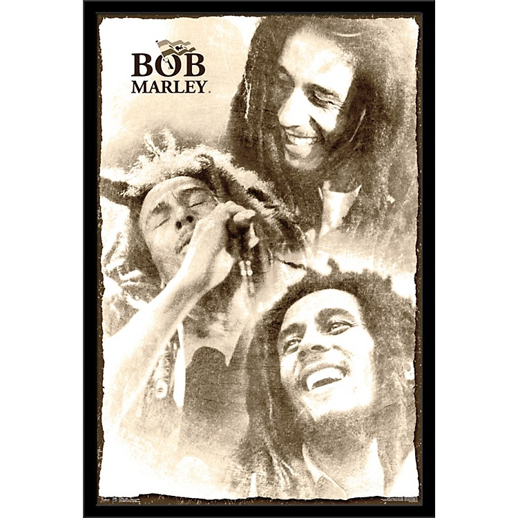 Trends InternationalBob Marley - Soulful PosterFramedBlack