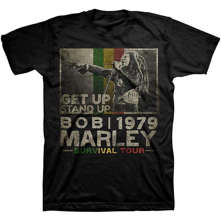BravadoBob Marley Get Up T-ShirtBlackSmall