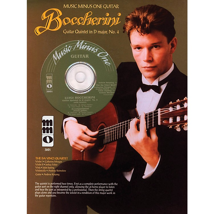Music Minus OneBoccherini - Guitar Quintet No. 4 in D, Fandango Music Minus One Series Softcover with CD
