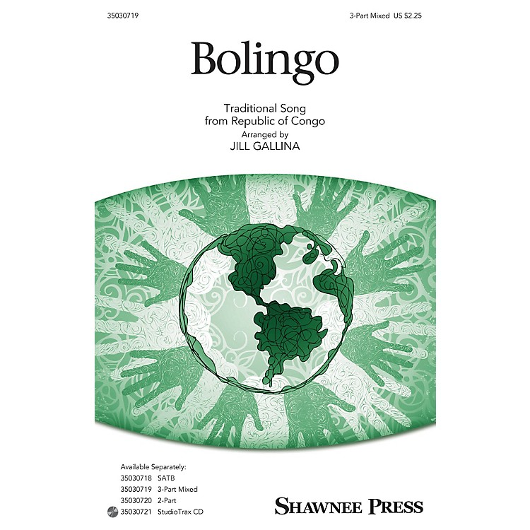 Shawnee Press Bolingo 3-Part Mixed arranged by Jill Gallina