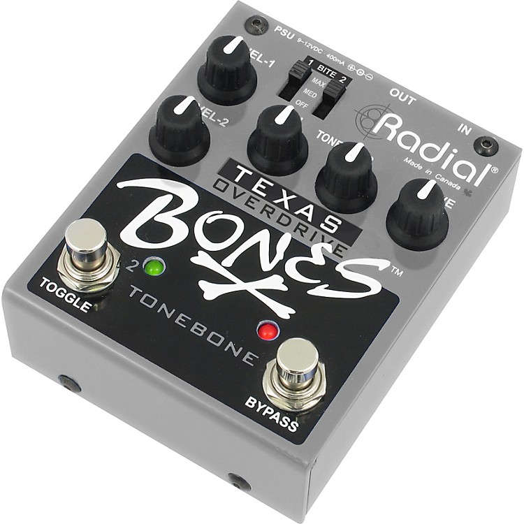Radial Engineering Bones R800-7110 Texas Overdrive Guitar Effects Pedal