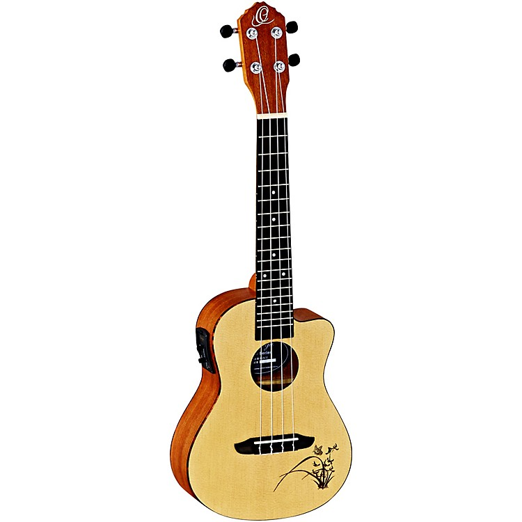 Ortega Bonfire RU5CE Concert Acoustic-Electric Ukulele with Cutaway Natural