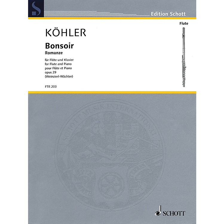 Schott Bonsoir, Op. 29 (Romance Flute and Piano Reduction) Woodwind Series Softcover
