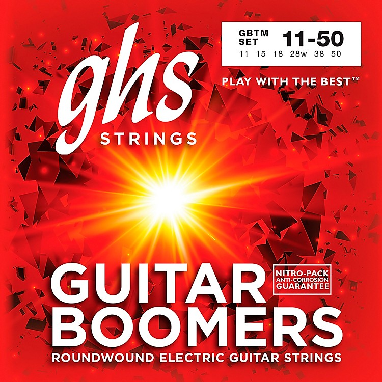 GHSBoomer Electric Guitar Strings Medium (11-50) with (28-D) and (38-A)