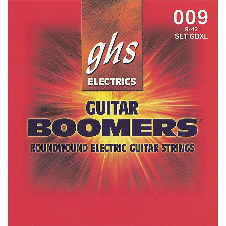 GHS Boomers GBXL Extra Light Electric Guitar Strings 3-Pack
