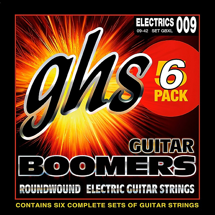GHSBoomers GBXL Extra Light Electric Guitar Strings (9-42) 5-Pack