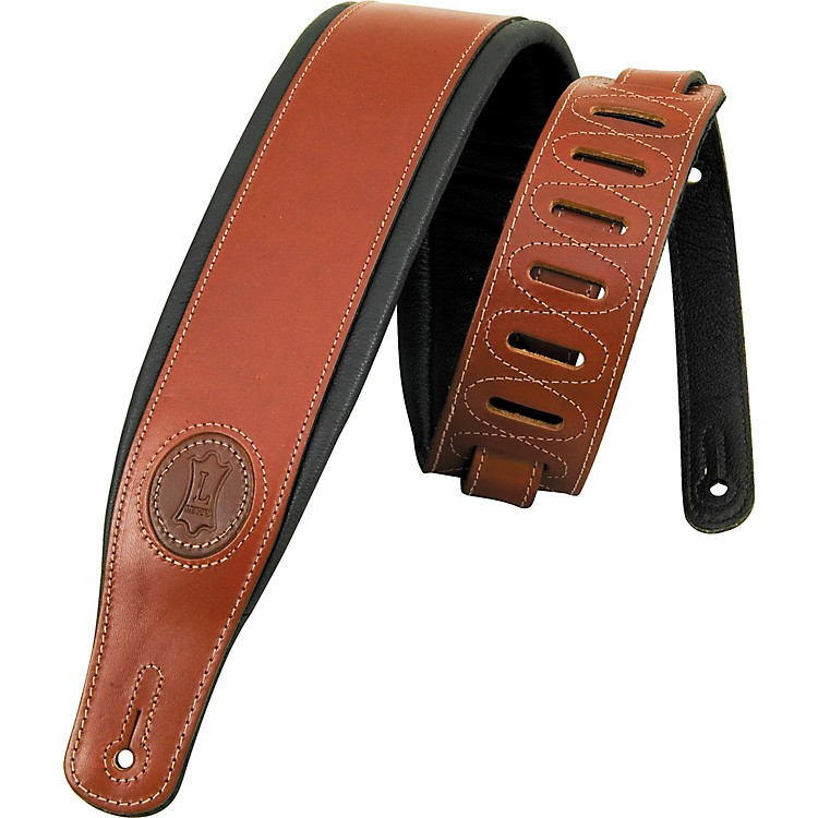 Levy's Boot Leather Guitar Strap Dark Brown