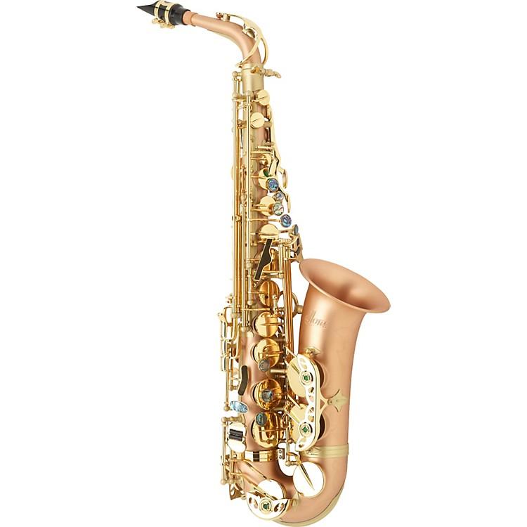 AlloraBoss 2 Professional Alto SaxophoneAAAS-909 - Matte Nickel Silver Body - Brass Lacquer Keys