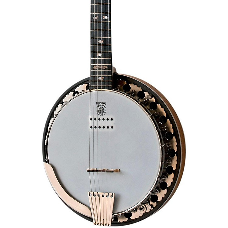 Electric Guitar Strings On Banjo : deering boston 6 string acoustic electric banjo music123 ~ Russianpoet.info Haus und Dekorationen