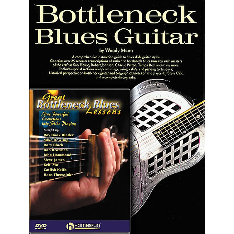 HomespunBottleneck Guitar Pack Homespun Tapes Series Softcover with DVD Written by Woody Mann