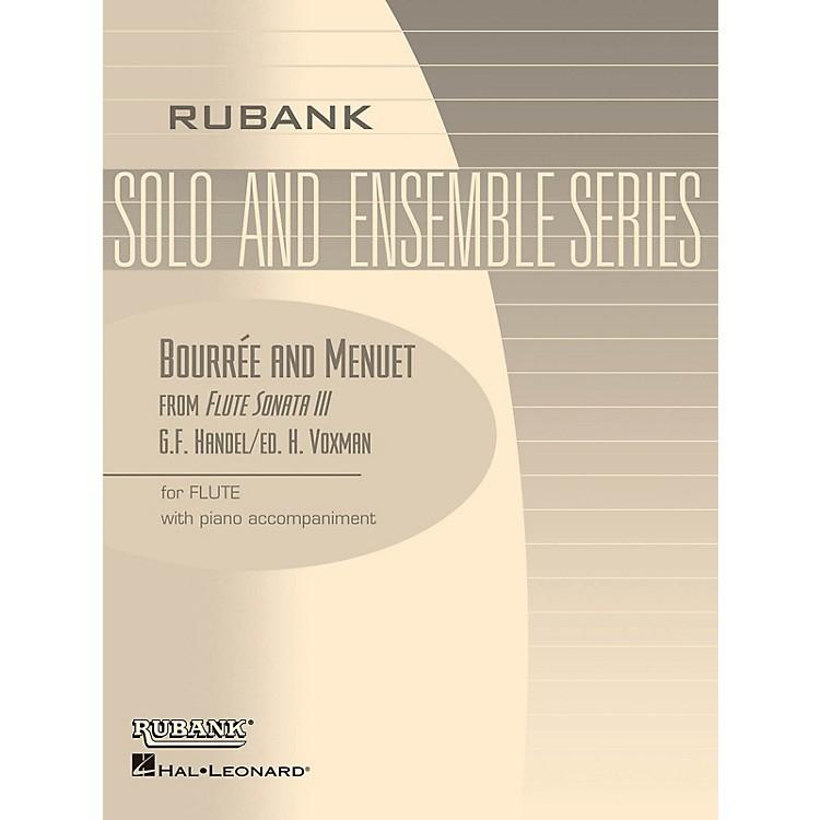 Rubank PublicationsBourrée and Menuet (from Flute Sonata III) Rubank Solo/Ensemble Sheet Series