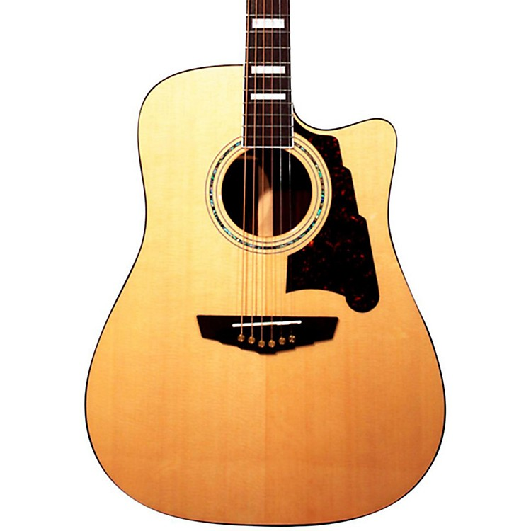 D'AngelicoBowery Dreadnought Cutaway Acoustic-Electric GuitarNatural