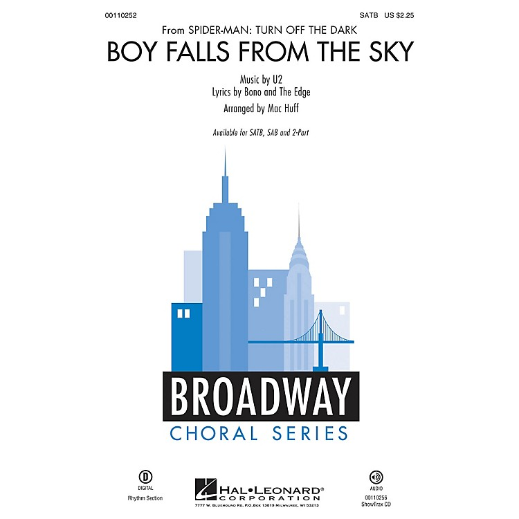 Hal Leonard Boy Falls from the Sky (from Spider-man: Turn Off the Dark) SATB SATB arranged by Mac Huff