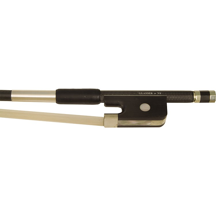Glasser Braided Carbon Fibre Bass Bow German, Round 3/4 Size