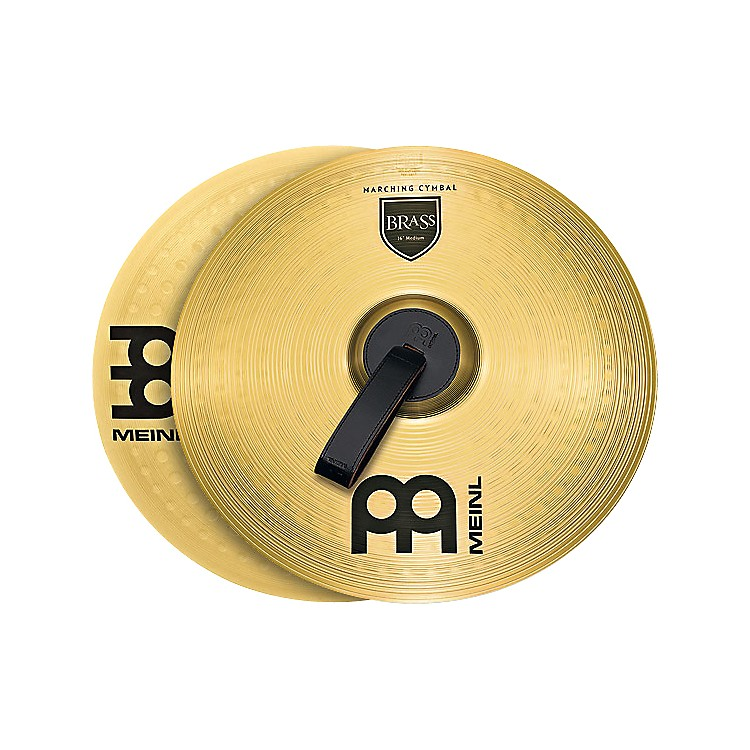 Meinl Brass Marching Medium Cymbal Pair 16 in.