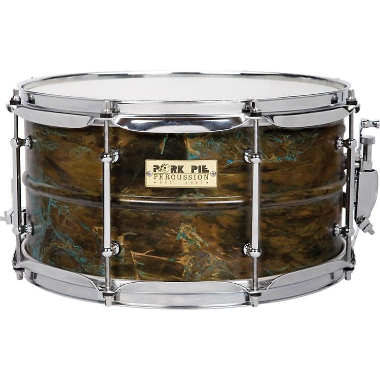 Pork PieBrass Patina Snare Drum7 x 13