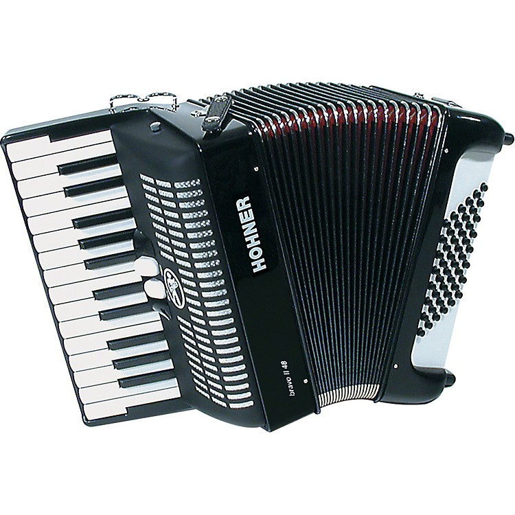Hohner Bravo 48 Accordion Blue 888365011837