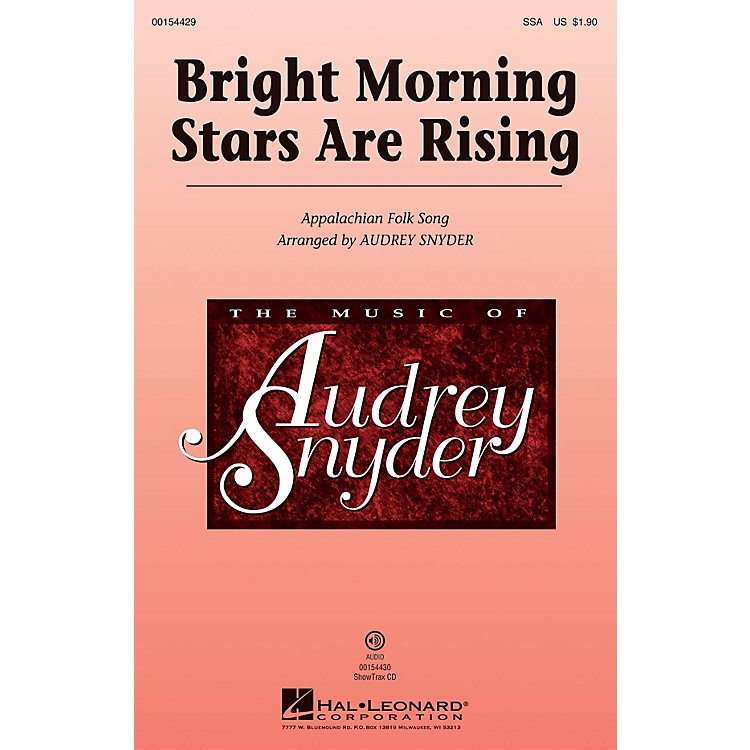 Hal LeonardBright Morning Stars are Rising SSA arranged by Audrey Snyder