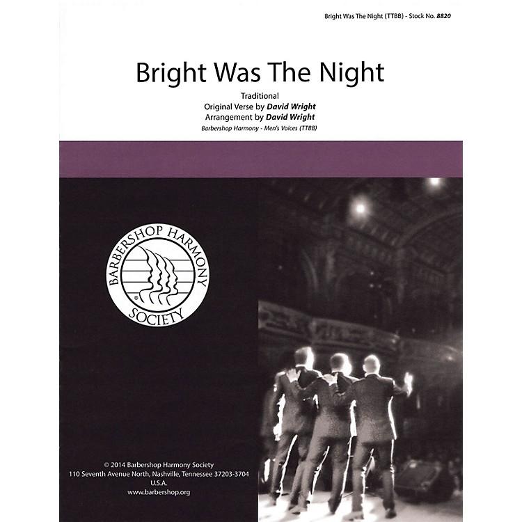 Hal LeonardBright Was the Night TTBB A Cappella arranged by David Wright