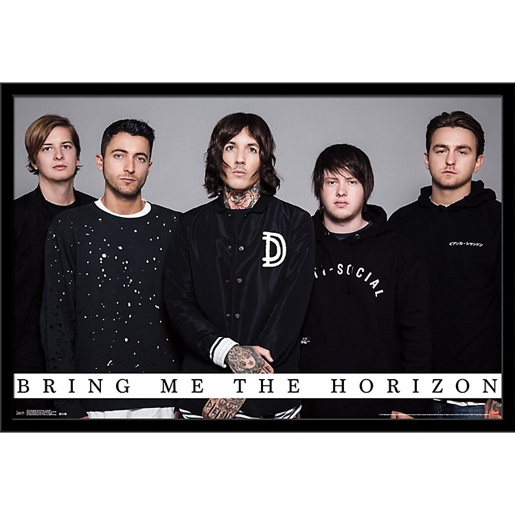 Trends International Bring Me The Horizon - Umbrella Poster Framed Black