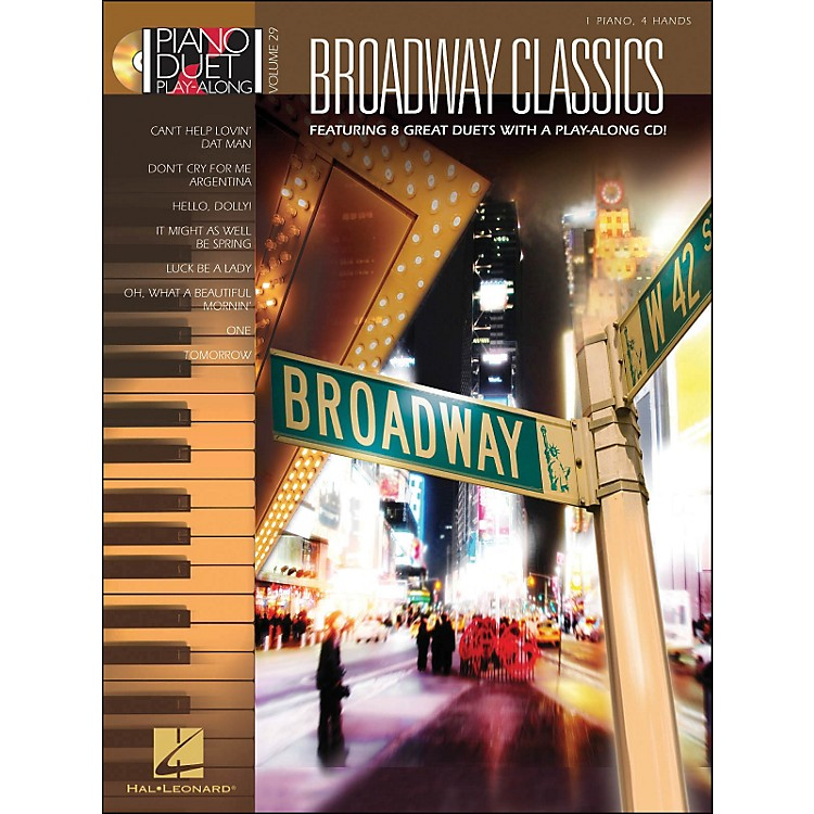 Hal Leonard Broadway Classics Piano Duet Play-Along Volume 29 Book/CD