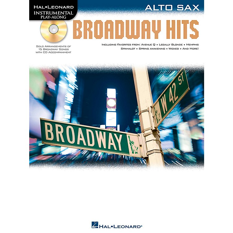 Hal LeonardBroadway Hits For Alto Sax - Instrumental Play-Along Book/CD