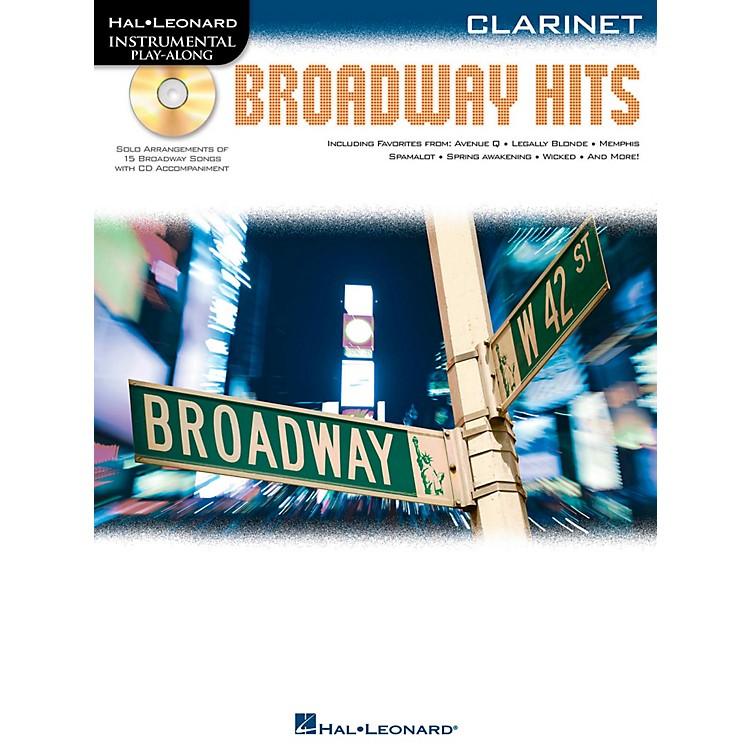 Hal LeonardBroadway Hits For Clarinet - Instrumental Play-Along Book/CD
