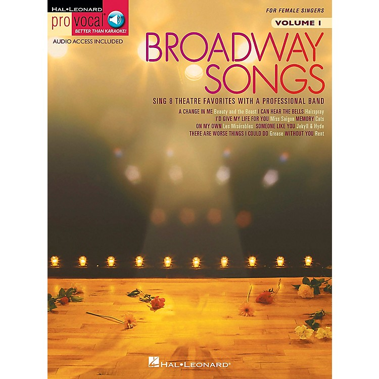 Hal LeonardBroadway Songs for Female Singers - Pro Vocal Series Volume 1 Book/CD